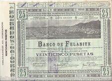 F.C.   25 PESETAS  BANCO DE FELANITX  1926  EBC  DOBLEZ MUY MARCADO