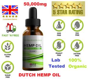 HEMP OIL 50,000mg DUTCH Hemp Natural Oil -💗 - ULTRA PREMIUM DUTCH HEMP OIL 💗