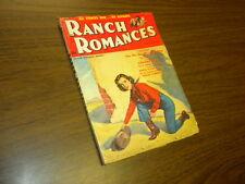 RANCH ROMANCES - September 11, 1953 - western PULP MAGAZINE great cover art!