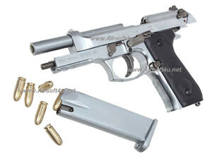Mini Model Gun - M92F (Shell Eject, Silver) For Display Only