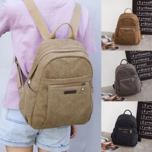 Women Girl Casual Canvas Backpack Rucksack School Satchel Travel Hiking Book Bag