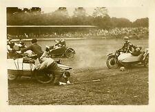 """""""UNE PARTIE DE POLO EN SIDE-CARS 1931"""" Photo originale G. DEVRED (Agce ROL)"""
