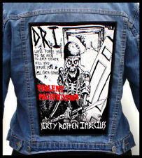 D.R.I.  --- Giant Backpatch Back Patch / Dirty Rotten Imbeciles Nuclear Assault