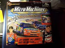MicroMachines Jeff Gordon / Dale Jarrett RACE FOR THE FINISH PLAYSET w/ 2 cars +