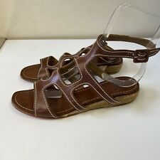 CHRISTIAN LOUBOUTIN BROWN LEATHER SANDALS size 5 38