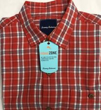 New Tommy Bahama Men's Casual Short Sleeve Shirt Red Plaids Size XL $37.50