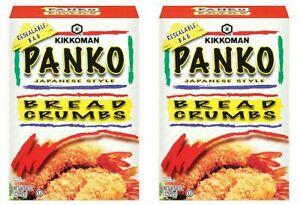 2 Kikkiman Panko Japanese Style Bread Crumbs Boxes 8 oz Each