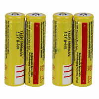 New 4PCS High Quality 18650 3.7V 5000mAH Lithium Rechargeable Battery Yellow UUB