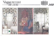 VOGUE Valence Curtain Panels Sewing Pattern UNCUT Gathered Panel Curtains