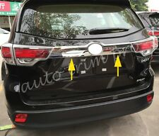 Chrome Part Tail Door Rear Gate Trunk Lid Cover Trim For Toyota Kluger 2014-2017