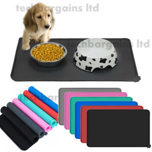 Silicone Pet Feeding Mat Non Slip Pet Food Placemat for Dog Cat Puppy 47x30cm UK