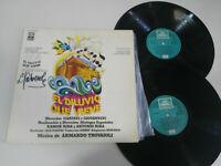 "El Diluvio Que Viene 1977 doble LP Vinilo 12"" VG/VG Firmado por Lorenzo Valverde"