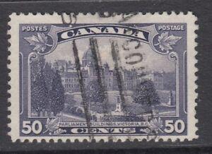 "Canada Scott #226  50 cent Parliament Victora, BC ""KGV Pictorial""  F"