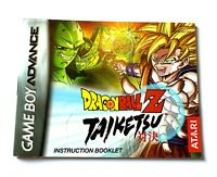 Dragon Ball Z Taiketsu Nintendo Game Boy Advance Instruction Manual Booklet ONLY