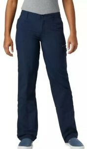Columbia PFG Omni-Shade UPF 30 Aruba Blue Roll Up Pants Women's Size 14