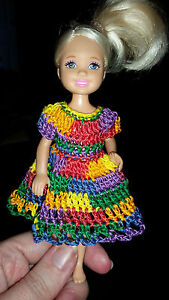 Hand crocheted Chelsea/Kelly Mattel doll clothes