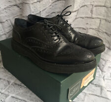 CHURCHES WOMENS BROGUES BLACK LEATHER SZ 410 UK 8 LACE UP MILLIE