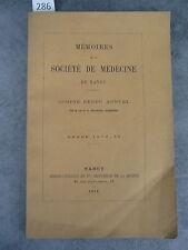 Mémoire société de médecine Nancy 1872 73 Monoyer ophtalmologie optique médecine