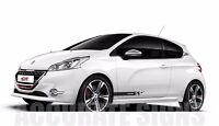 PEUGEOT 208 GRAPHICS SET STICKERS STRIPES CAR DECALS GTI XSI ANY COLOUR