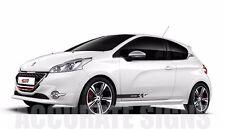 Peugeot 208 GRAPHICS KIT STICKERS Stripes voiture Autocollants Gti Xsi toute couleur