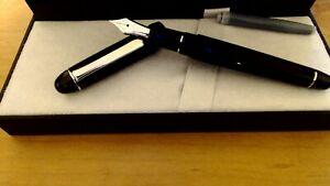 Platinum 3776 Century fountain pen, F, Black Diamond, rhodium