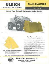 Equipment Data Sheet - Ulrich Tl-14 16 Bucket - Allis-Chalmers Tractor (E5340)