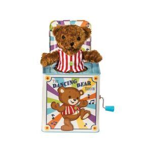 DANCING BEAR JACK IN A BOX - TLCBJB TRADITIONAL CLASSIC TIN MUSICAL KIDS FUN TOY