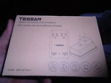 TESSAN 2000w Universal Travel Power Adapter with Dual USB Ports & Outlets