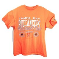 Vtg 1990s Logo7 Tampa Bay Buccaneers S Tshirt Creamsicle Made USA Single Stitch