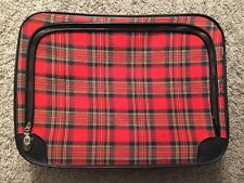 Vintage Red/Black Checkered Carrying Case/Bag/Suitcase