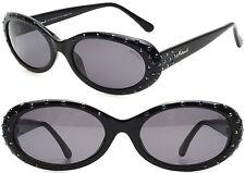 Elegant Neostyle Damen Sonnenbrille mit Acetate mit Schwarz Swarovski Kristallen