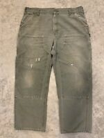 Carhartt B136 MOS Dungaree Double Front Jeans 40 X 32 Work Washed Duck Pants
