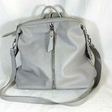 Urban Expressions handbag purse gray vegan backpack removable shoulder strap