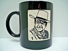 "VINTAGE JOHN WAYNE CERAMIC COFFEE MUG - ETCHED IMAGE OF THE ""DUKE"" EX. COND."