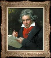 """Hand painted Old Master-Art Antique Oil Painting Beethoven on canvas 20""""x24"""""""