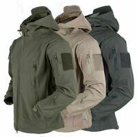 Men Outdoor Waterproof Soft Shell Jacket Tactical Winter Coat Military Jacket