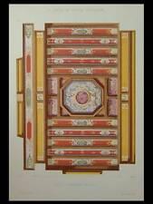 SALLE A MANGER, STYLE HENRI II - 1900 - GRANDE LITHOGRAPHIE, DECORATION,PEINTURE