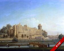WARWICK CASTLE LANDSCAPE ENGLAND BRITISH EMPIRE PAINTING ART REAL CANVAS PRINT
