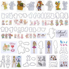 Silicone Clear Stamp+Metal Cutting Dies Stencil Frame For Scrapbook Album Lot