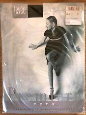 Vintage LEVÉE Premiere transparente Glanzstrumpfhose 15 den, Gr. 44-46, schwarz