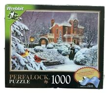winter picture puzzle piece perfalock 1000 new factory sealed no fall apart bj