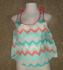 Justify Chevron Sleeveless Top Shirt Size L Large
