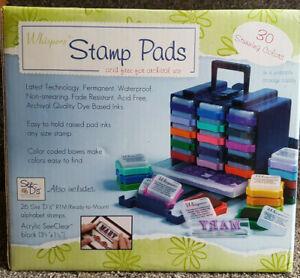 Whispers 30 Ink Pads & Storage System (BNIB)