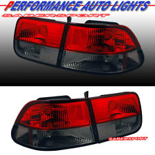 Set of 4pcs Red Smoke Taillights for 1996-2000 Honda Civic 2dr Coupe