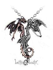 Goth : Alchemy Collier Chaine & Pendentif Ange & Démon Chemical Wedding Gothique