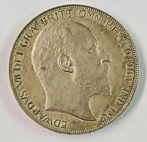 1902 Edward VII Silver Matt Proof Crown  ☆☆  Only 15,000 minted  ☆☆