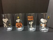 Set 4 Pottery Barn Kids HALLOWEEN Peanuts Snoopy TUMBLER Kitchen Table Party NEW