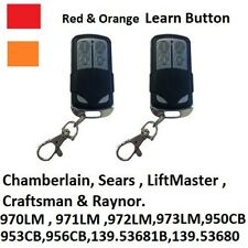 Craftsman 139.53681B Garage Door Opener Key Chain Remote Control 139.53680 2PACK