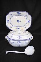 Copeland Spode Blue Gloucester Fine China Soup Tureen + Underplate + Ladle (24)