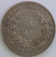 FRANCE 5 FRANCS NAPOLEON EMPEREUR 1811 A SUP